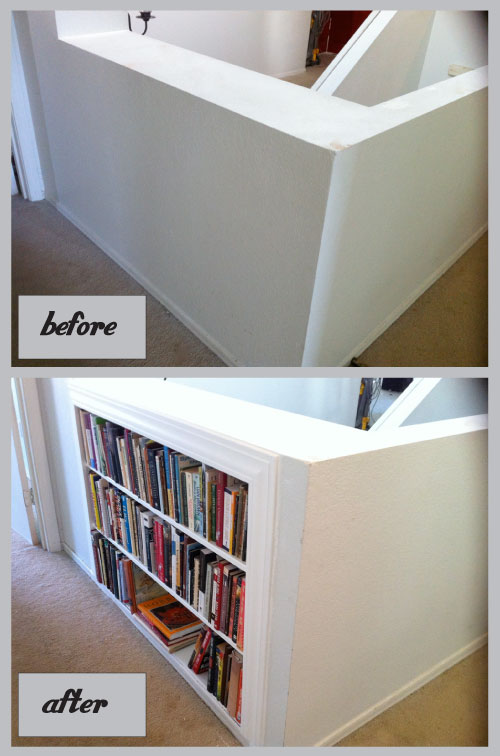 Beforeafterhallshelves