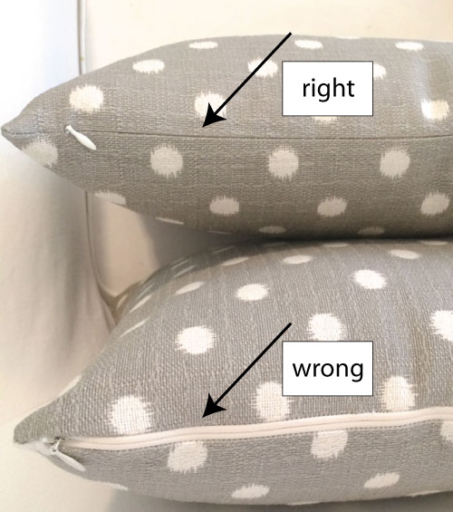 No Zipper Pillow Cover Tutorial: Make a pillow cover with an invisible zipper (no pins needed    ,